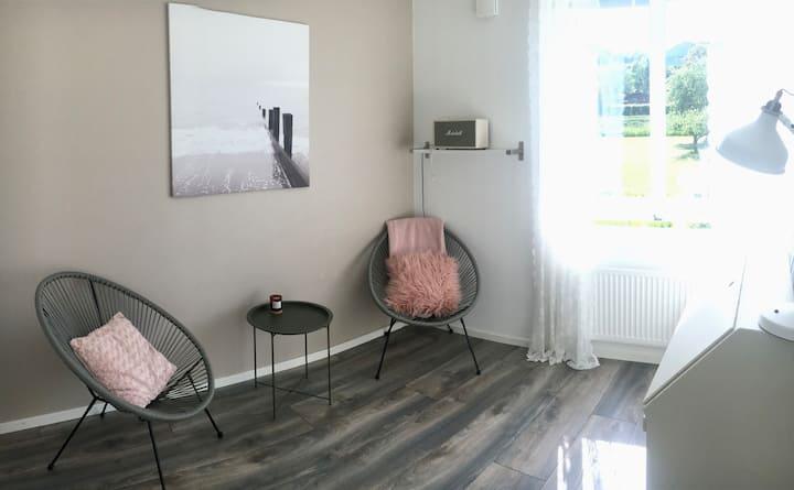 Charmig lägenhet i centrala Båstad