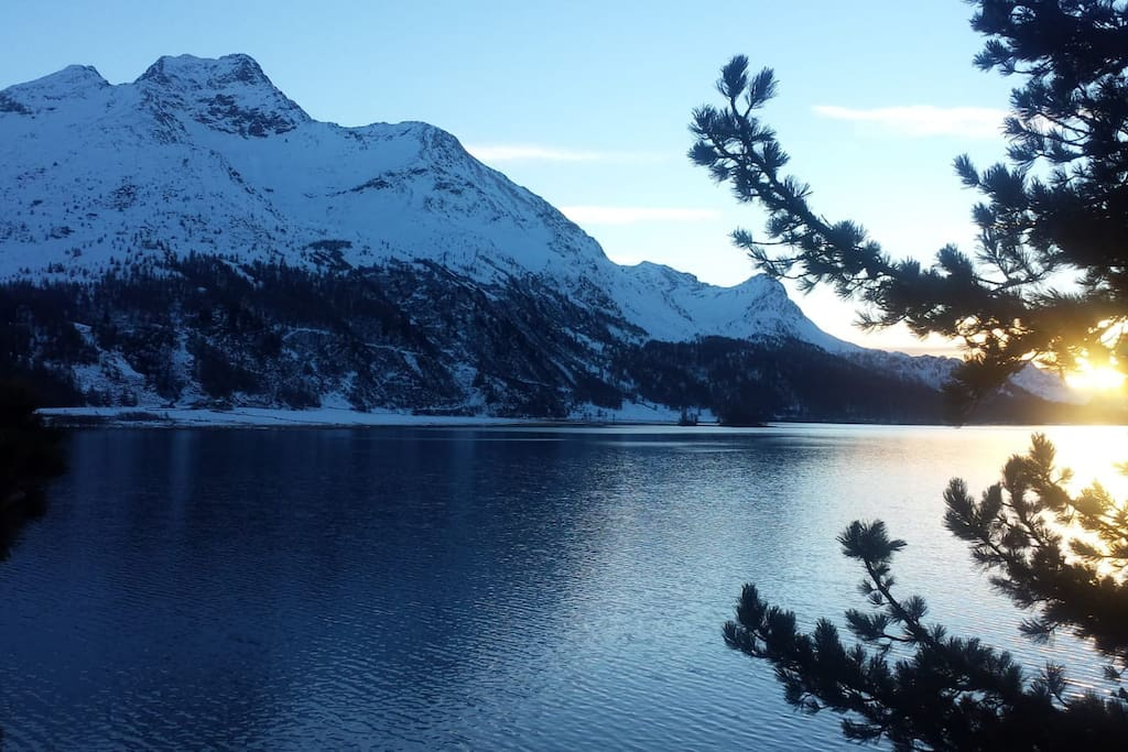 The Sunset over Lake Sils