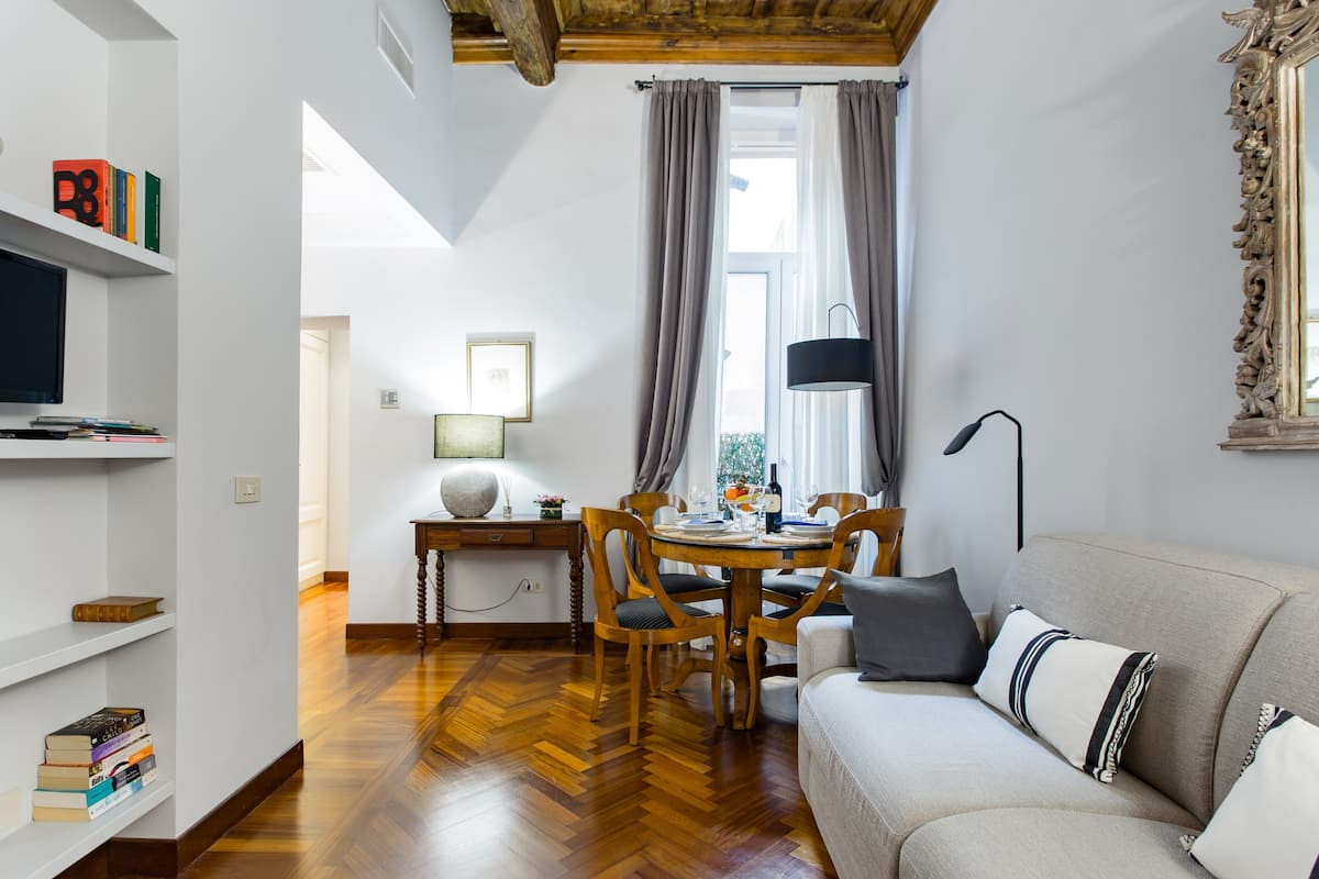 Wander the Glossy Parquet Floors in an Ancient Building