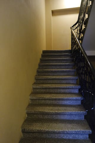 The original about 150 years old staircase and rails are kept even after resent renovation