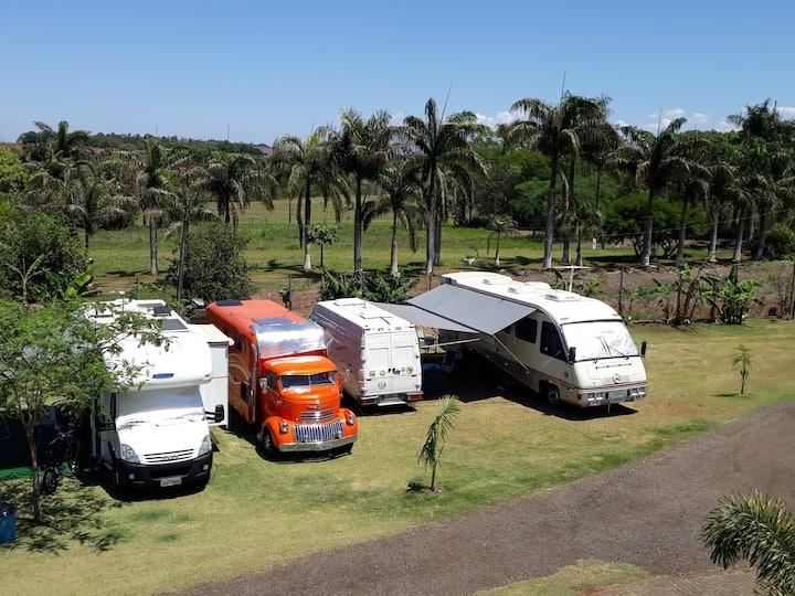 Foz do Iguaçu. Camping para Motohomes