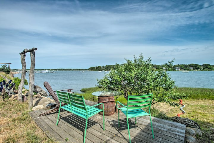 NEW! Martha's Vineyard Getaway w/ Waterfront Deck!