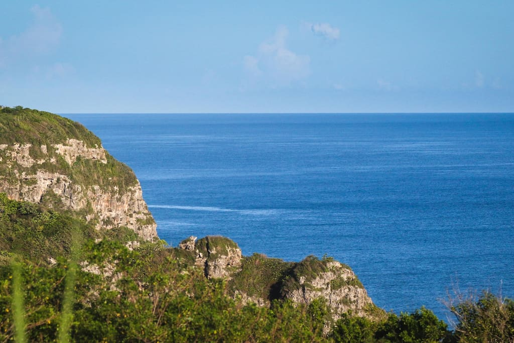 Limestone cliffs next to our property