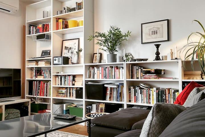 Spacious Living Room with a big and comfortable Sofa