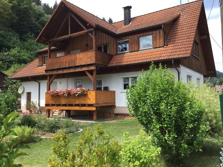Ferienwohnung am Kinzigtalradweg, (Alpirsbach), Ferienwohnung, 72qm, Balkon, 1 Schlafzimmer, max. 3 Personen