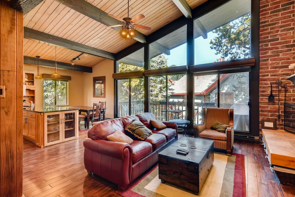 Open floor plan with welcoming living area. Professionally managed by a local team on duty 24/7.