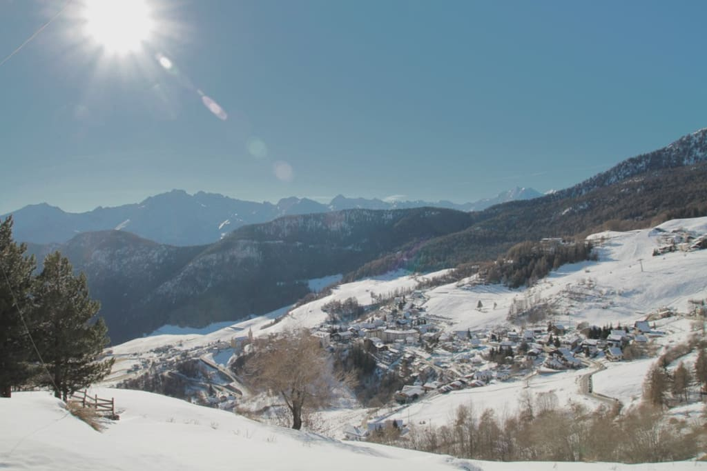 vista con neve