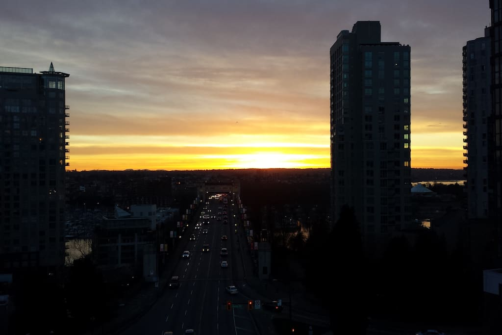 Clear nights provide some spectacular sunsets from the roof top
