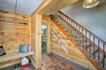 A large mudroom allows you to store all your gear with ease.