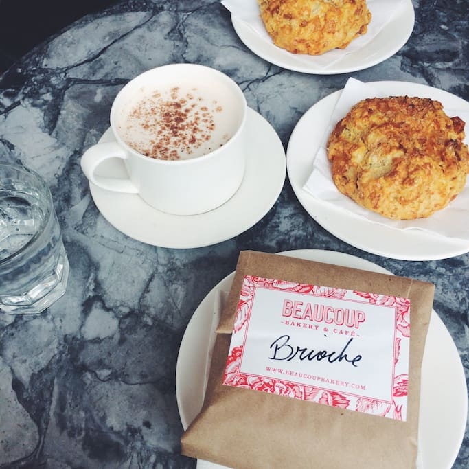 Some of the best coffee shops and artisan pastries a walk away (the most irresistible croissants and scones!)