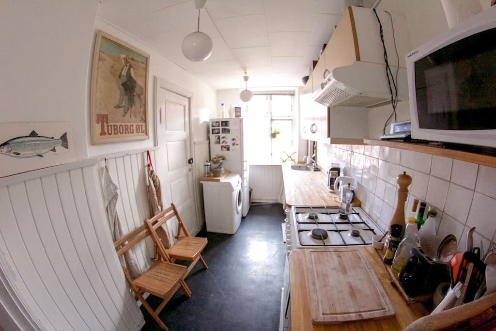 Full furnished kitchen. Here is where you make your Ramsay dishes.