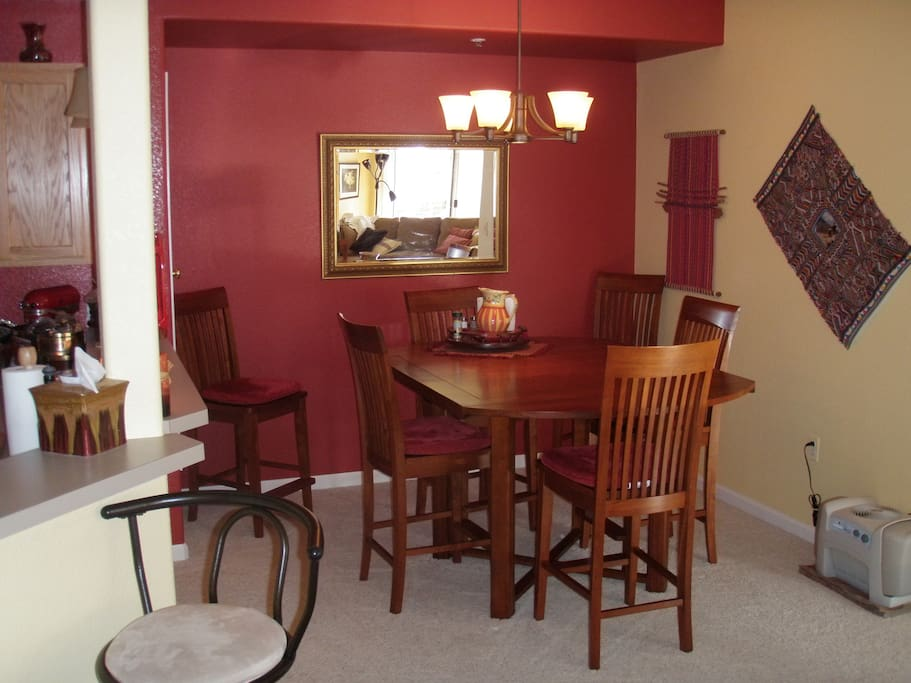 Pub-height cherry dining set