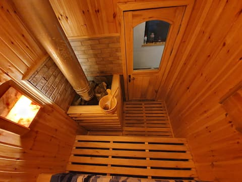 AXIS house, Bistrița river bank,mountain,sauna,TASSEL,