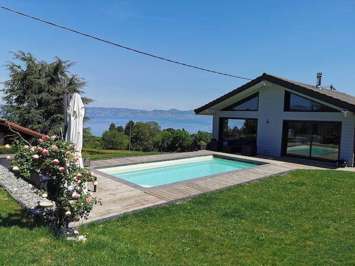Villa vue panoramique sur le Léman Evian les bains