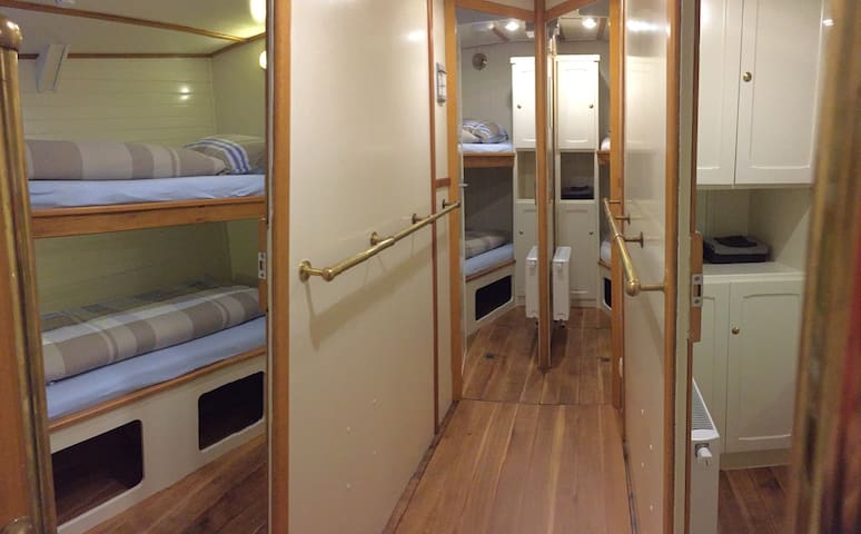 4x two person cabines with bunk beds ( maximum for 8 person)