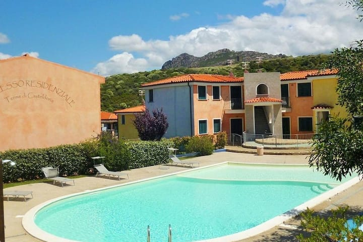Residence with swimming pool in green countryside near the thermal baths