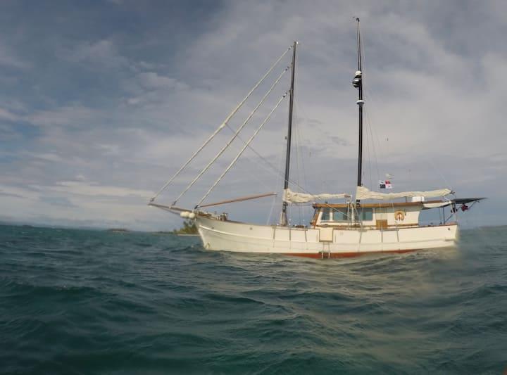 Chambre d'hote sur un bateau