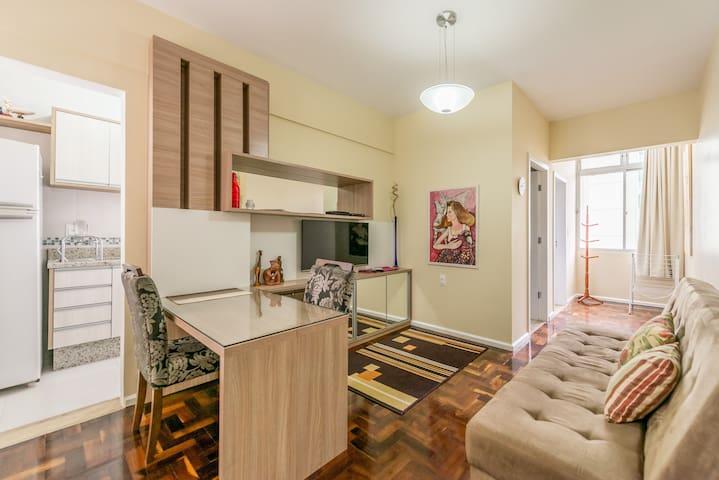 Apartamento totalmente equipado no centro com wifi - Florianópolis - Apartemen