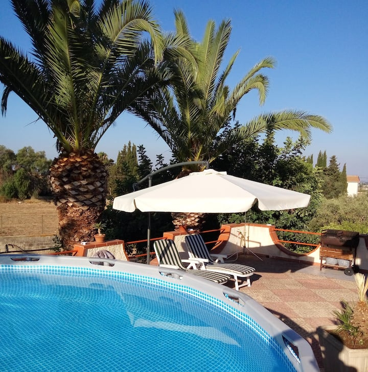 House with 2 bedrooms in Siracusa, with wonderful sea view, private pool, enclosed garden