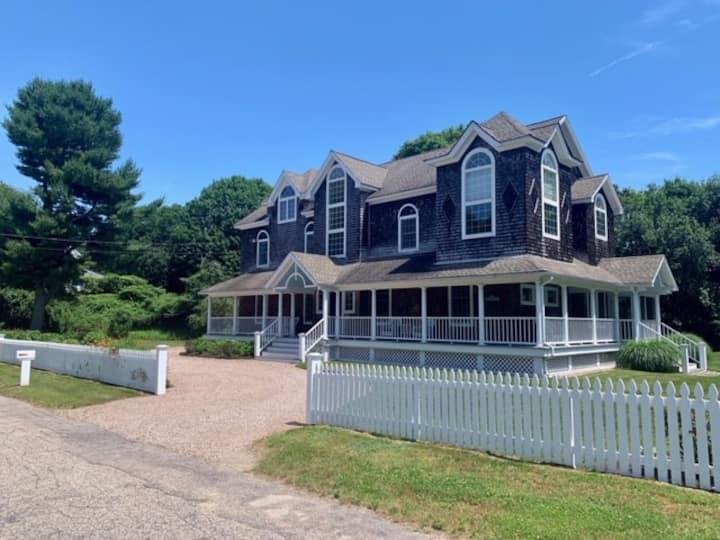 Modern Watch Hill Beach House, Wraparound Porch