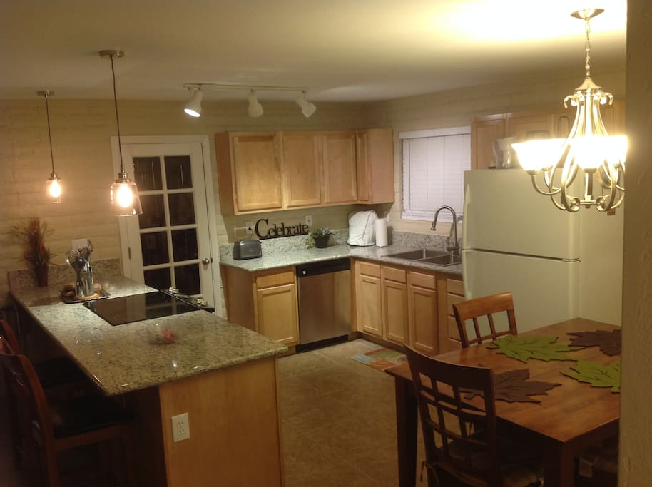Roomy Kitchen with granite and large pantry