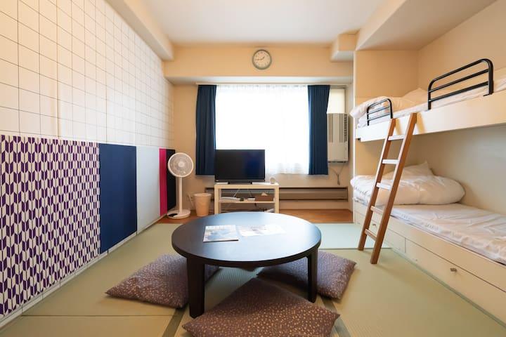 リゾートマンションで快適な休日 スキー場目の前・温泉・無料送迎バス・WIFI 【406号室】
