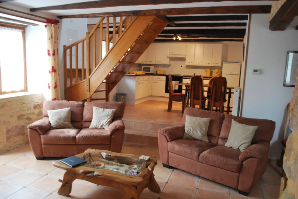 The two-bedroom gite downstairs