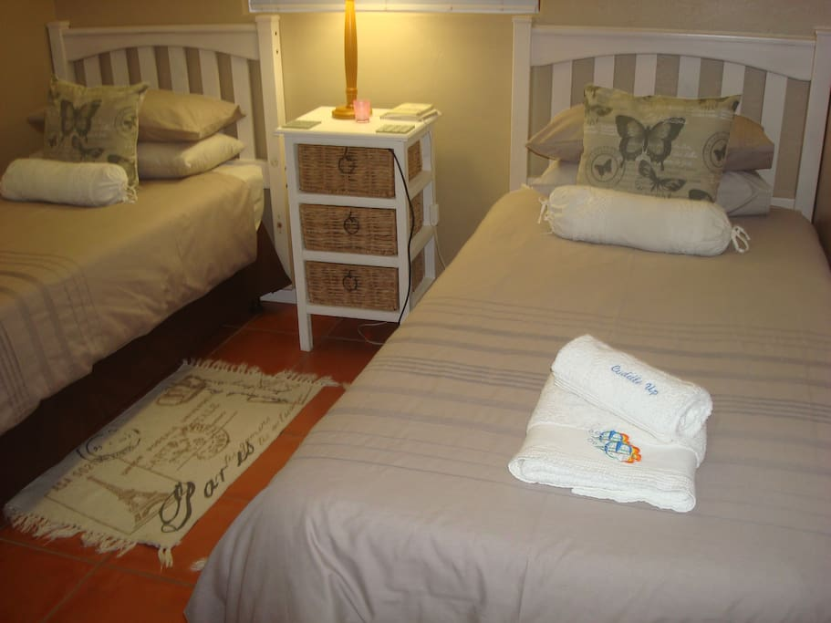 This is the second room with two single beds.