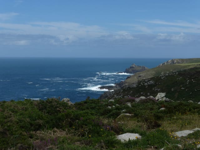 View towards Zennor. Picture taken from Bosigran.