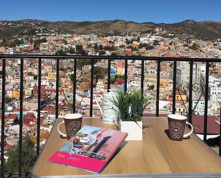 El centro a tus pies Vista/ terraza/ RELAX/ROMÁNCE