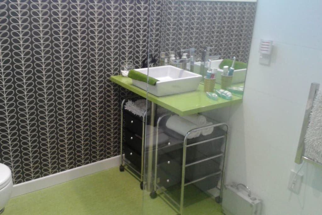 quaint easy bathroom facility, heated towel rail also with wheel chair access if required