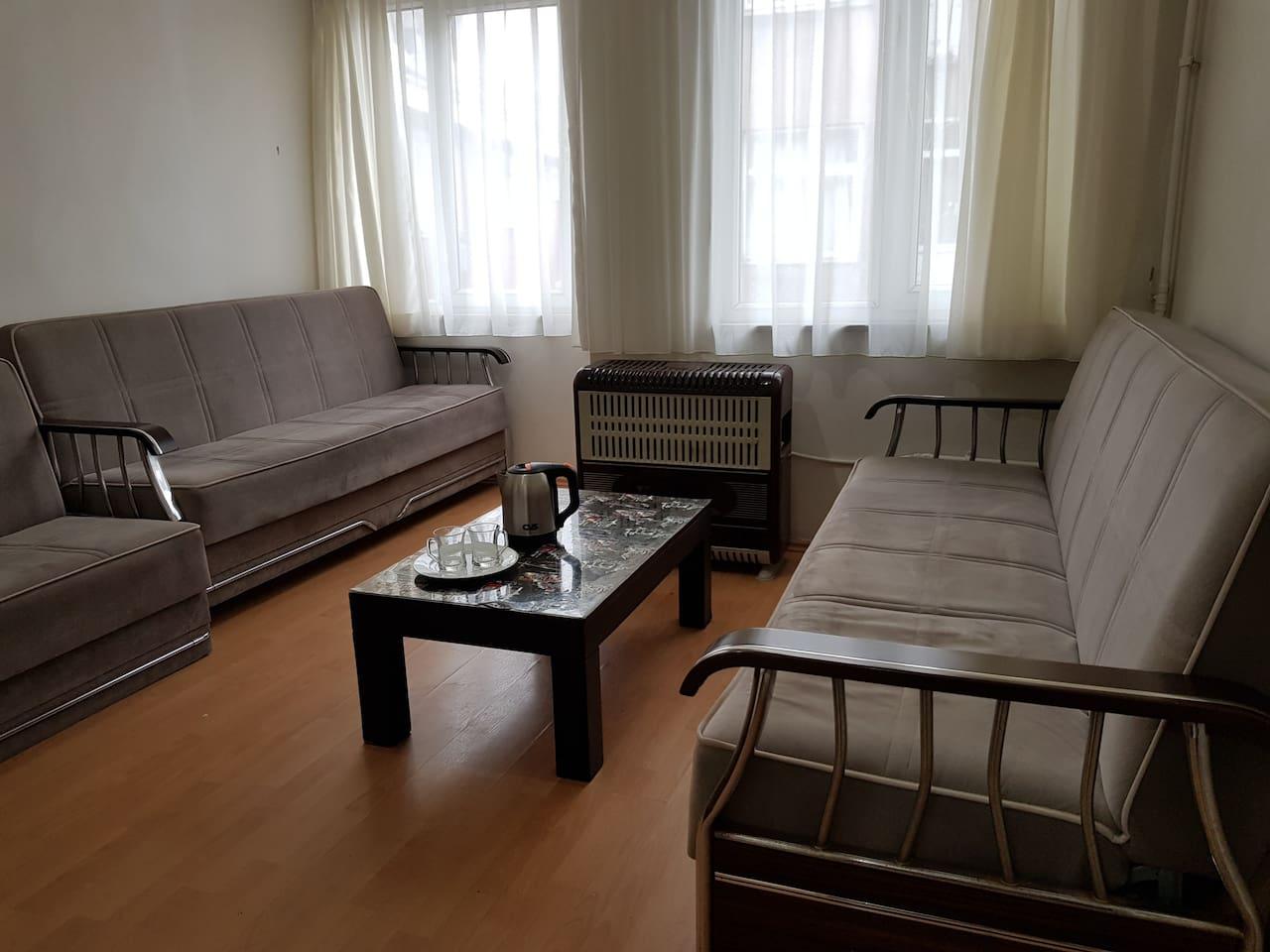 Livingroom, 3 sofabed.