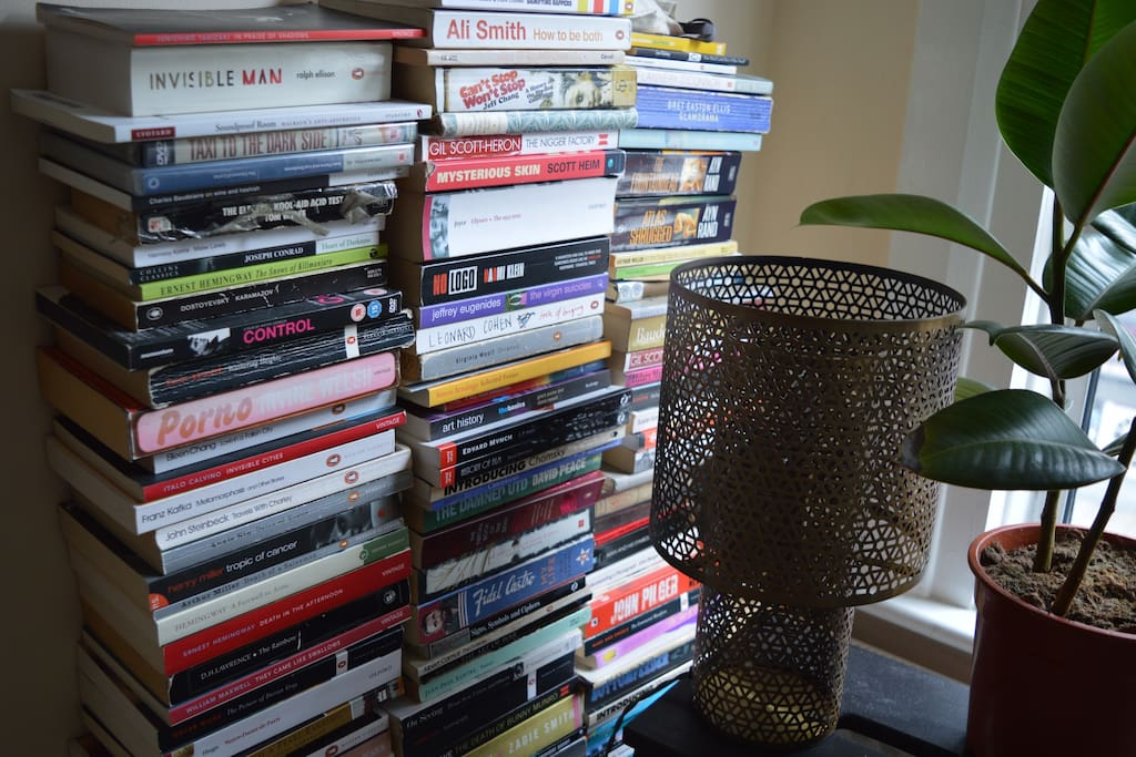 Feel free to indulge in a book whilst staying here
