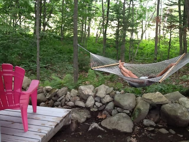 Hammock time is any time at the Hummingbird Hut.