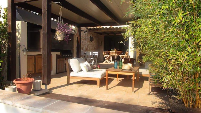 Maison 3 chambres, 3 sdb, piscine chauffée - Salles-d'Aude - Casa