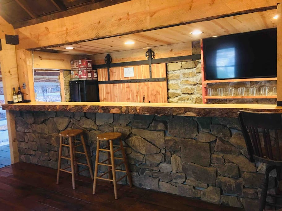 Enjoy a drink at the bar. We carry Bold Rock hard cider products as well as wine from local wineries.