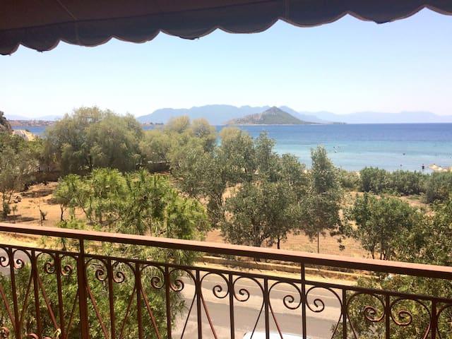 One bedroom across the beach with amazing sea view - Egina - Apartment