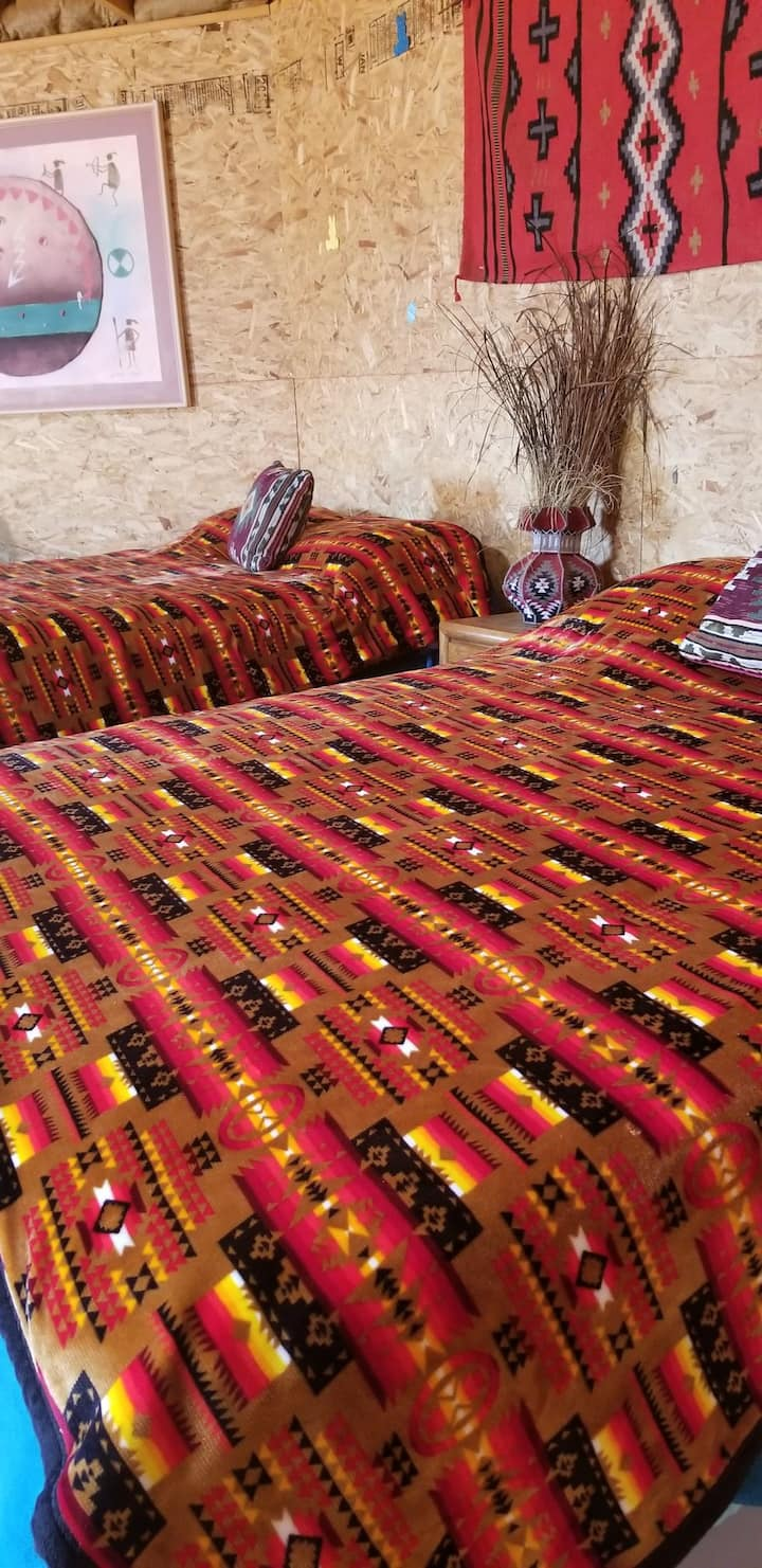 Navajo octagon earth hogan home