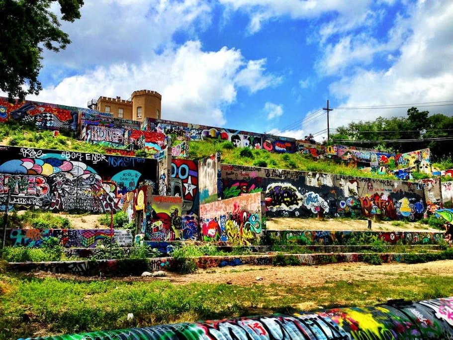 Baylor Street Art Wall