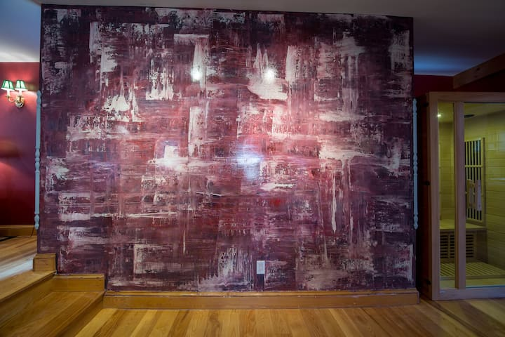 the wall painting after Gerhard Richter