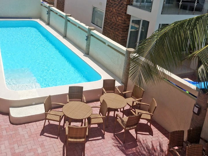 45m2 1BR Lux kitchen 5min to White Beach Stn2 Pool