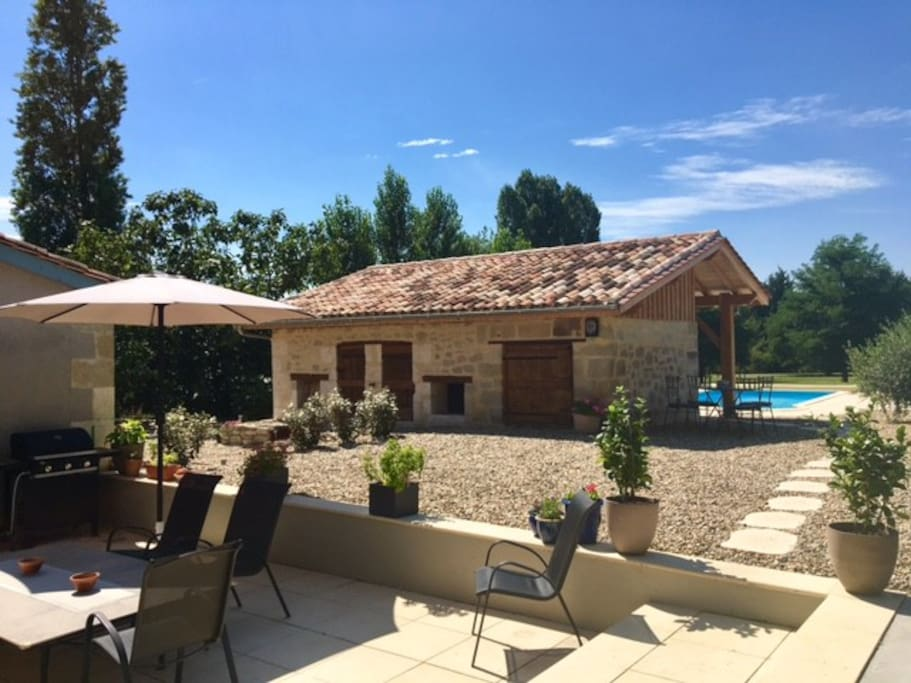 Pool house and kitchen patio