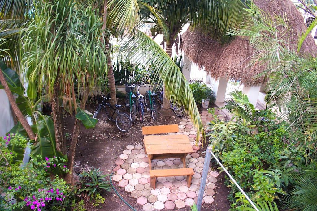 Green garden view