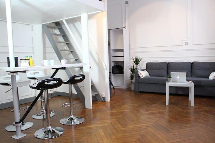 Studio cosy de 37m2•100m Gare• - Rouen - Departamento