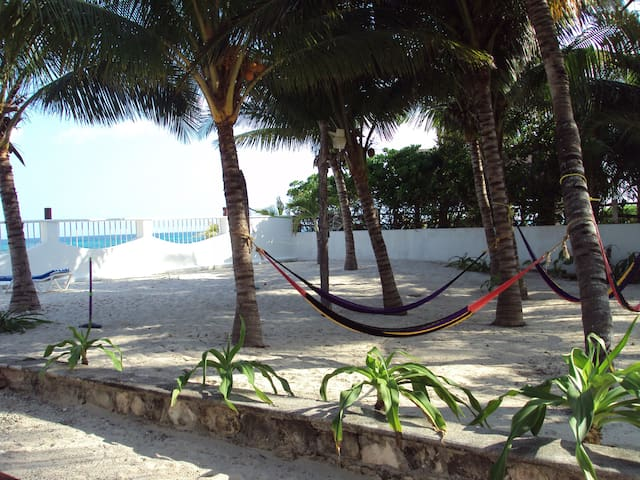 Ample beachfront property. Perfect for big groups. - Cancún - House
