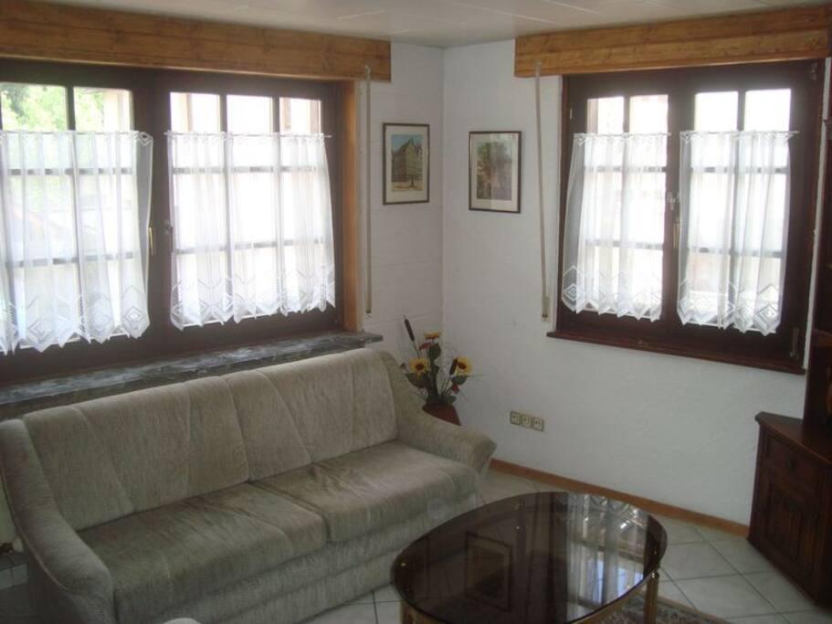Wohnzimmer mit Schlafcouch / Sitting room with studio-bed