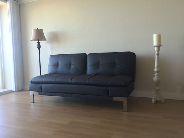 Sofa Bed in bright living room - Redwood City - Flat
