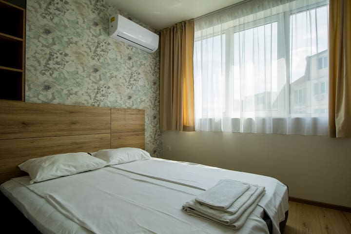 The second bedroom with double bed.
