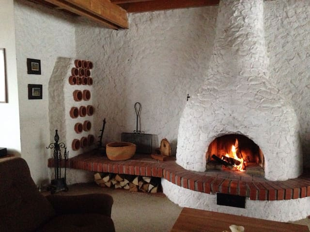 Cottage with fireplace in the national park