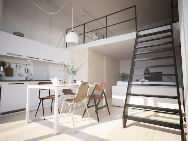 Trendy Loft 45m2 Center of Breda (max. 12 months)